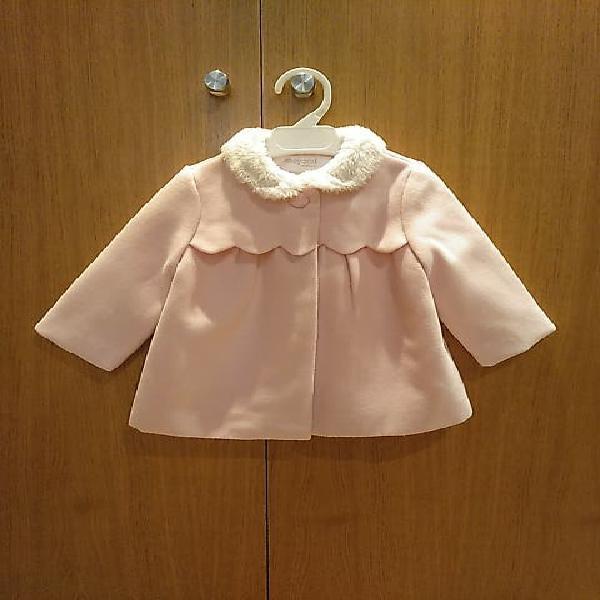 Abrigo rosa bebé. nuevo