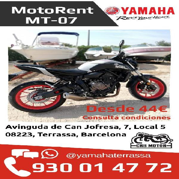 Alquiler moto yamaha mt07