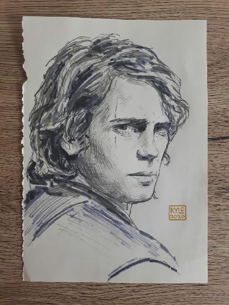Anakin skywalker. ilustración star wars