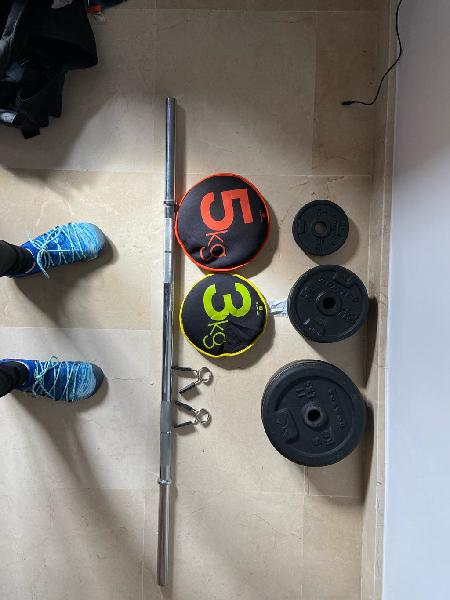 Barras y discos gym