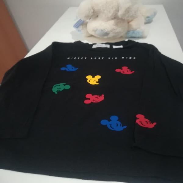 Camiseta manga larga niño mickey lefties 4-5 años