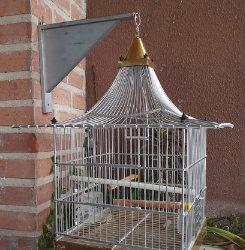 Jaula ornamental para pájaros