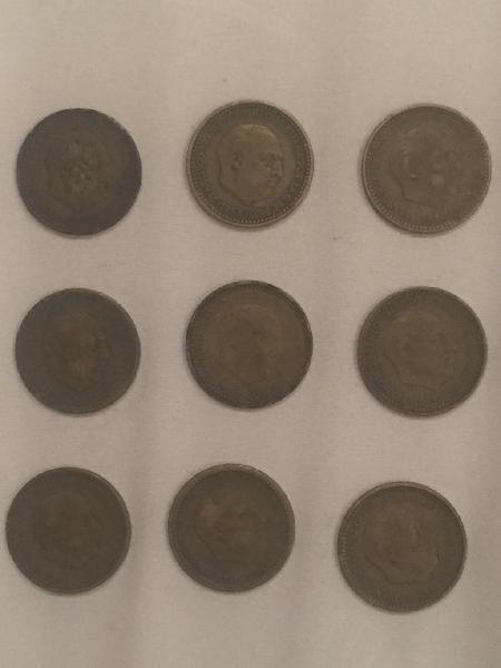 Pesetas rubias franco 1947, 1953 y 1963