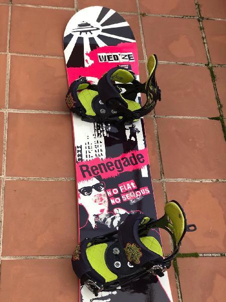 Tabla snowboard renegade (sin fijaciones)