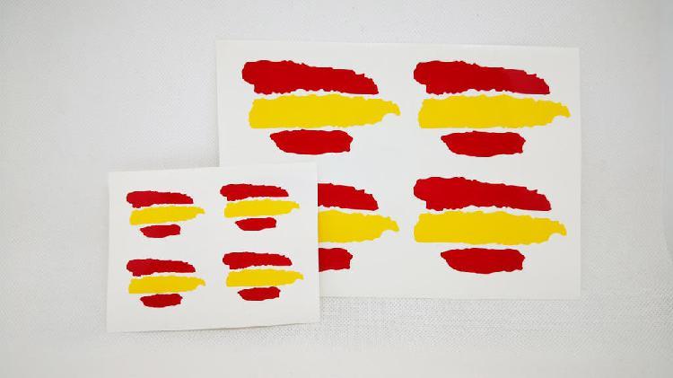 Vinilo adhesivo bandera españa x8 pack (2 medidas)