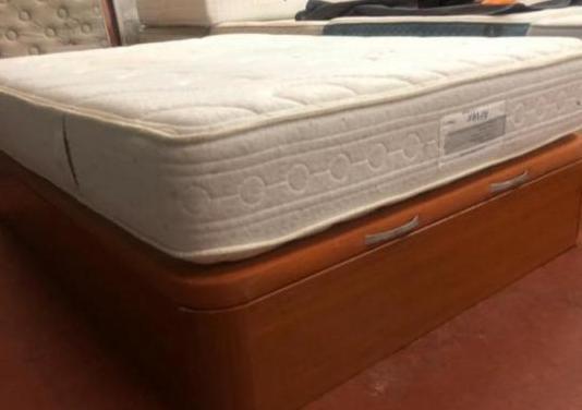135x190 canape madera granbox+colchon flex airvex