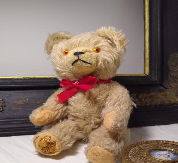 Antiguo vintage oso de mohair (teddy bear plush)