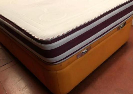 Canape polipiel naranja 135x190 colchon viscol...