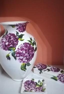 Conjunto decoración cerámica