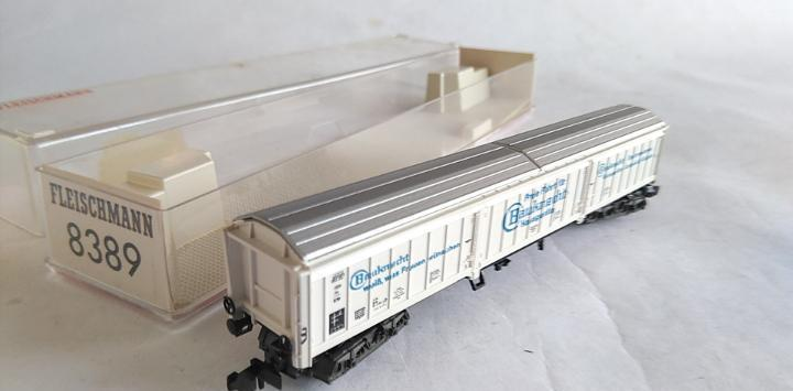 Fleischmann n vagón carga compuertas, en caja.válido