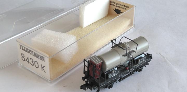 Fleischmann n vagón cisterna con garita.en caja. válido