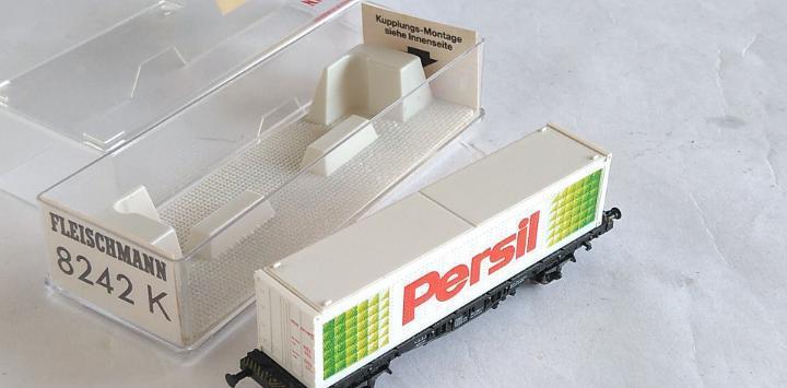 Fleischmann n vagón porta contenedores.en caja. válido