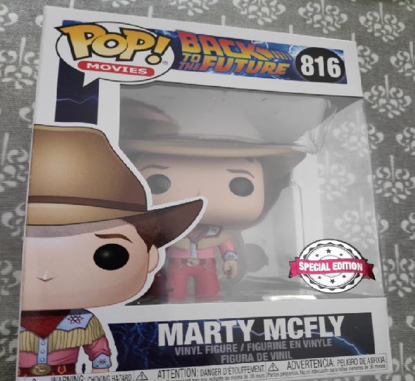 Figura funko pop marty mcfly cowboy regreso al futuro iii