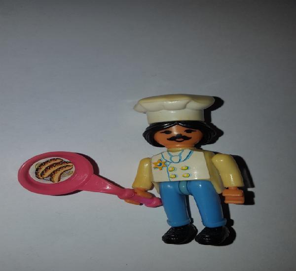 Figura kinder ferrero antigua cocinero montable muñeco