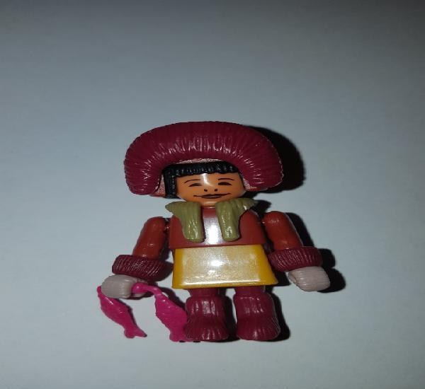 Figura kinder ferrero antigua esquimal montable muñeco
