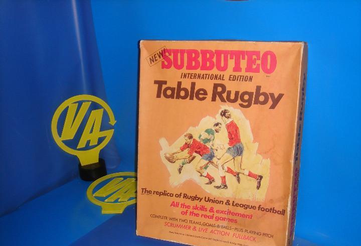 Juego de mesa subbuteo table rugby- rugby internacional-buen