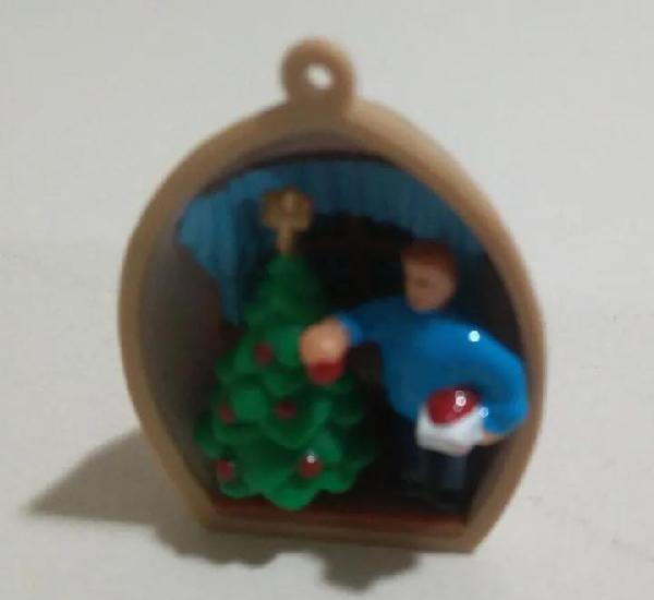 Kinder diorama arbol cascara nuez navidad colgante christmas