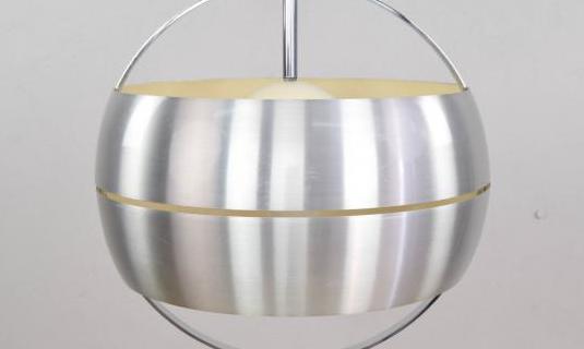 Lámpara de techo acero pulido