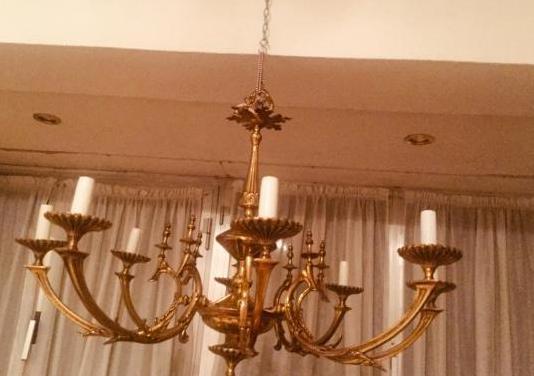 Lámpara techo de bronce