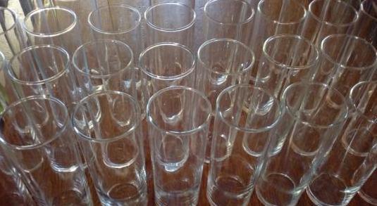 Lote de 50 vasos de tubo