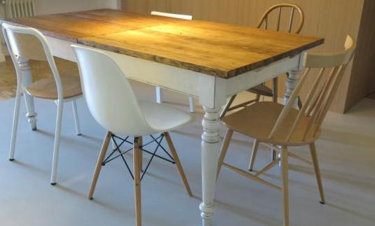 Mesa comedor madera maciza 180x90(extensible 240)