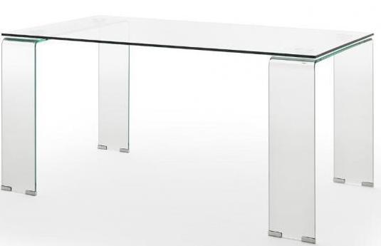 Mesa cristal comedor 160x90x76