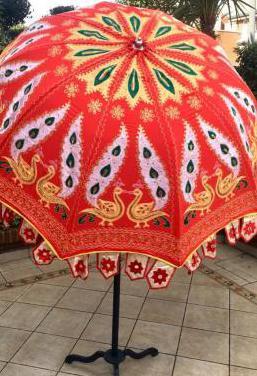 Sombrilla jardin de india