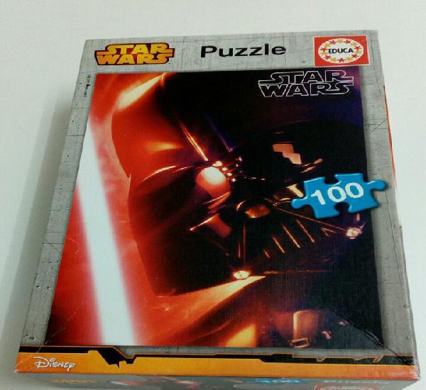 Star wars puzzle completo de 100 piezas. educa. disney