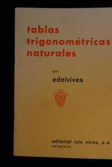 Tablas trigonométricas naturales.edelvives
