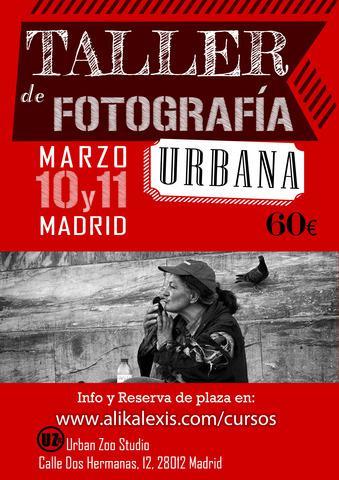 Taller de fotografía urbana, street photography.