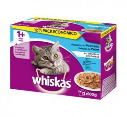 Whiskas multipack pescado 12x100 gr (4 uds)