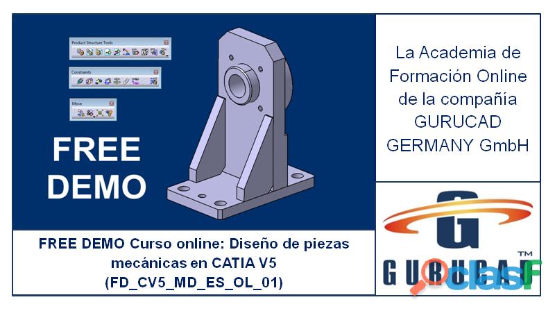 FREE DEMO Curso online: Diseño de piezas mecánicas en CATIA V5 (FD_CV5_MD_ES_OL_01)