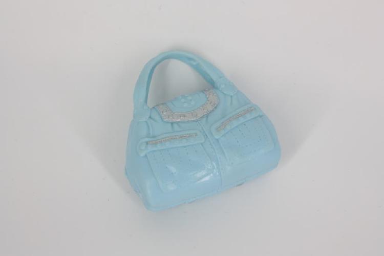 Bolso azul con detalles en plateado para barbie