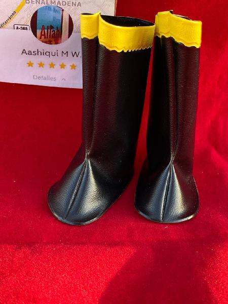 Botas negras con raya amarillo original de nancy