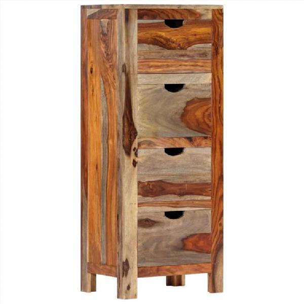 Cajonera de madera maciza de sheesham 40x30x100 c