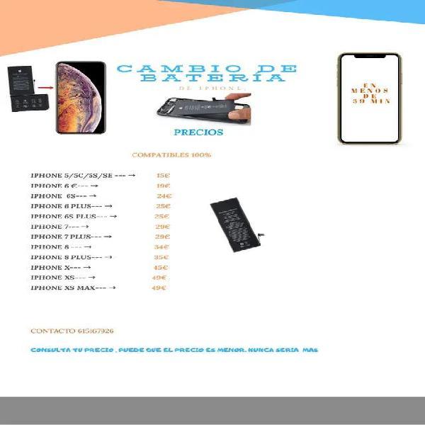 Cambio bateria iphone