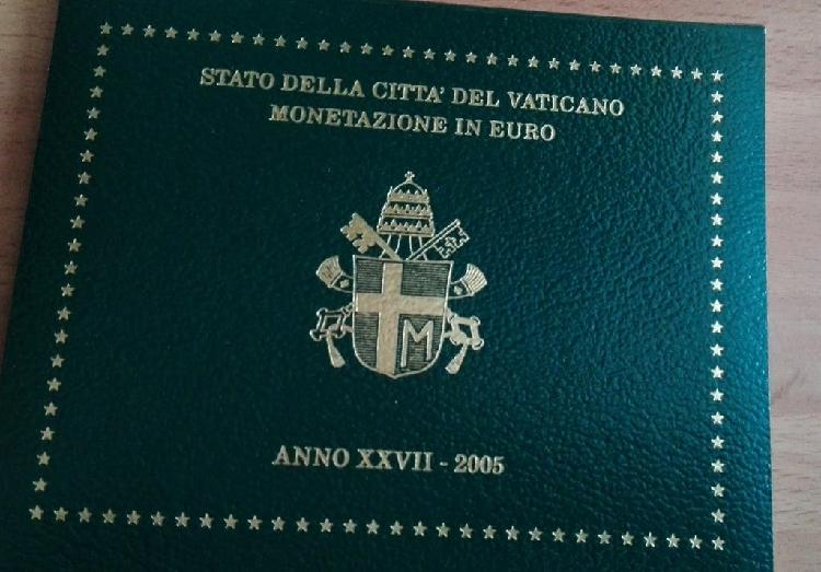 Cartera oficial vaticano 2005 -rara-