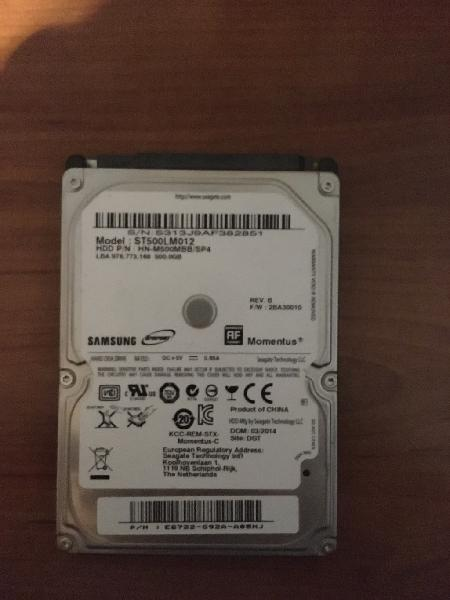 Disco duro samsung 500 gb