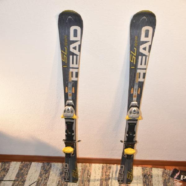 Esquís de alta gama 165cm,con fijaciones tyrolia