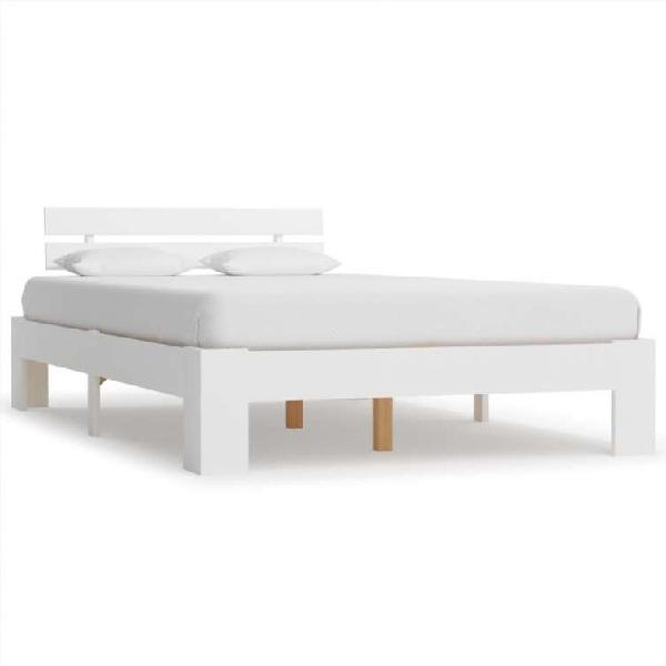 Estructura de cama de madera maciza de pino blanc