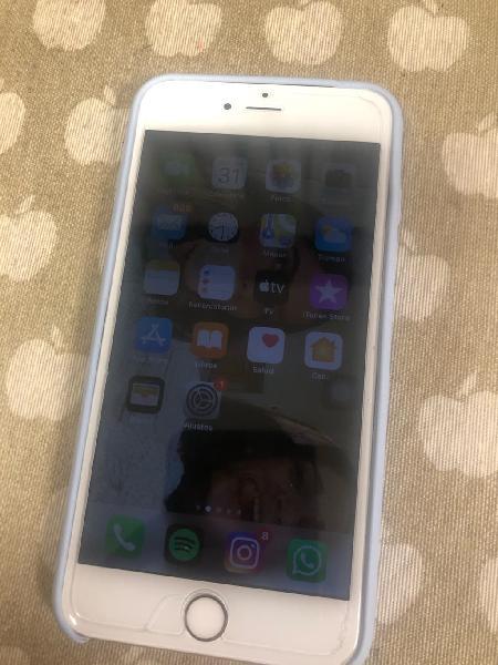 Iphone 6s plus blanco rosa