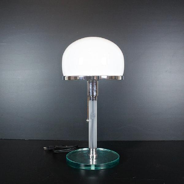 Lámpara mesa metalarte valentino años 70