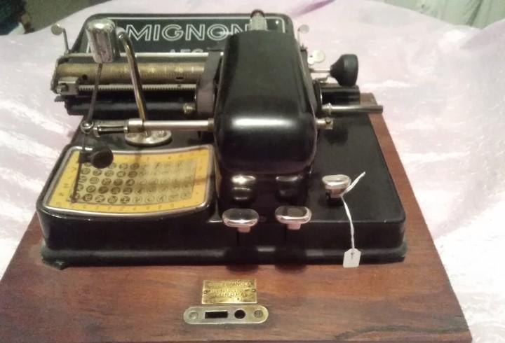 Maquina de escribir mignon aeg alemana envio peninsular por