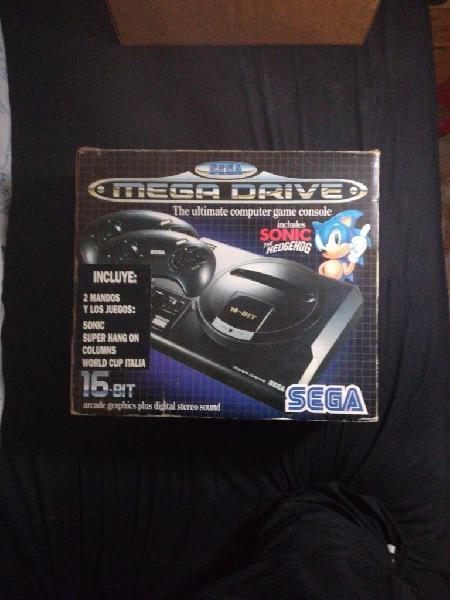 Mega drive completa con caja y juegos