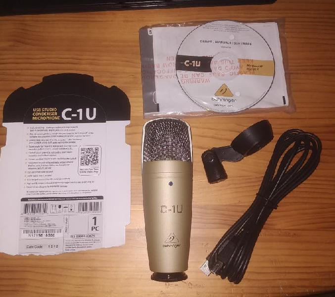 Micrófono estudio behringer c1-u