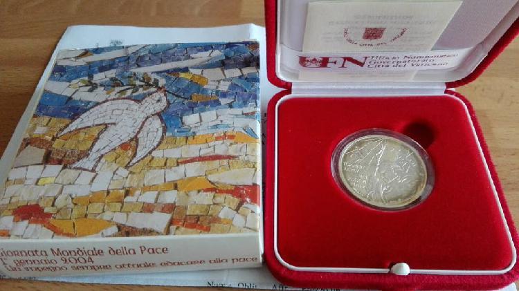 Moneda vaticano 2004. 10 euros plata proof