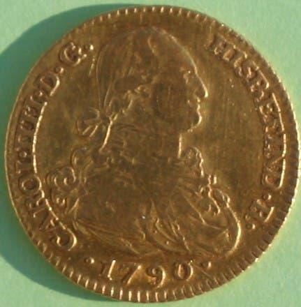 Moneda de oro de 2 escudos