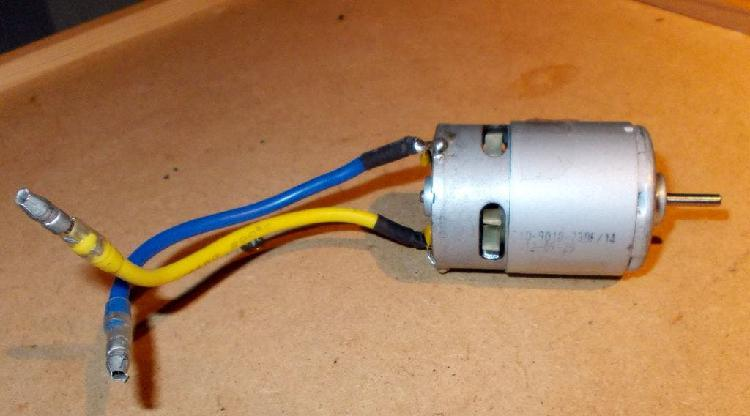 Motor electrico 540 y 18 vueltas, radiocontrol