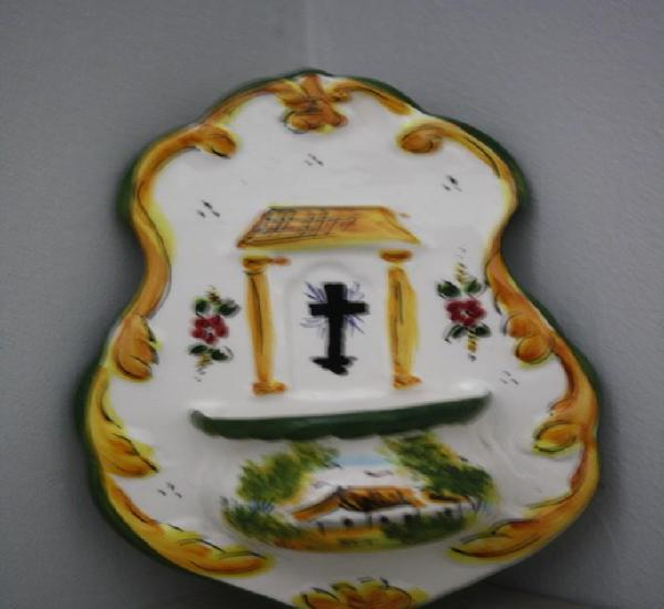 Pila benditera vitrificada por ambos lados 259 gr alto 18 cm