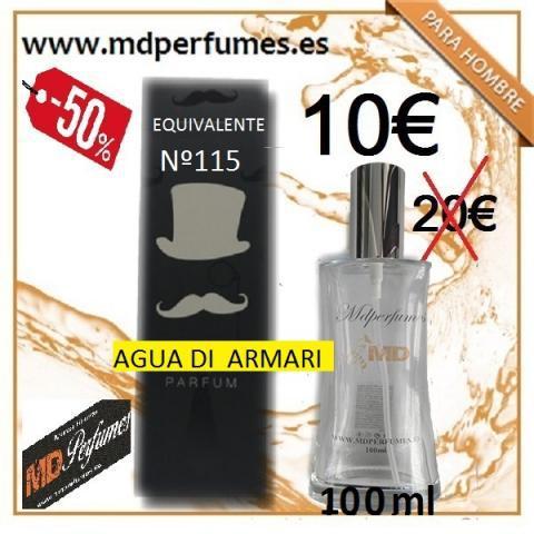 Perfume hombre equivalente alta gama nº 115 agua de armar